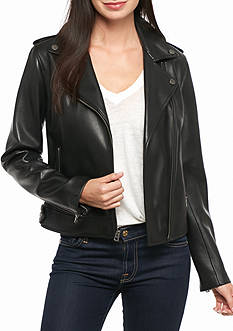 Lucky Brand Black Detailed Multi-Zipper and Button Jacket