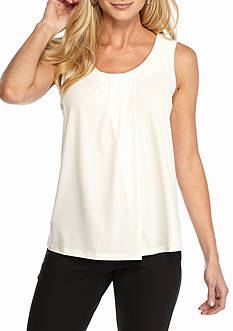 Anne Klein Basic Pleated Top