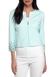 Anne Klein Jewel Sleeve Ponte Jacket
