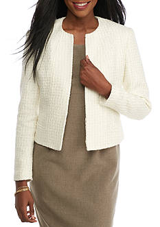 Anne Klein Tweed Long Sleeve Jacket