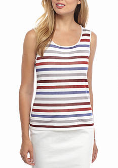 Anne Klein Stripe Sweater Shell