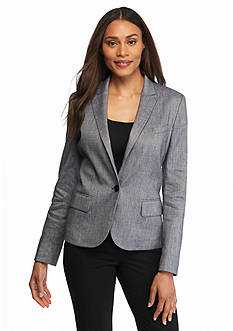 Anne Klein Twill Single Button Jacket
