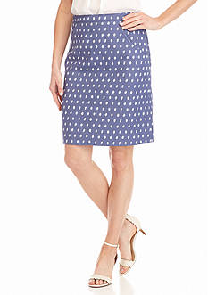Anne Klein Short Jacquard Skirt