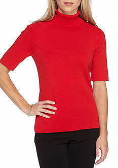 Anne Klein Solid Turtle Neck Sweater