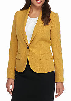Anne Klein Pin Dot Button Jacket