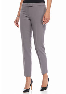 Anne Klein Solid Flat Front Pants