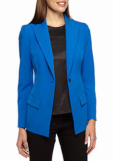 Anne Klein Long Crepe Single Button Jacket
