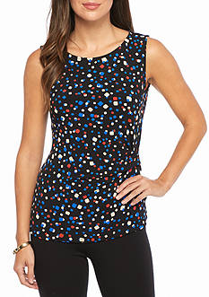 Anne Klein Printed Sleeveless Blouse