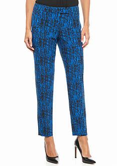 Anne Klein Print Flat Front Pant