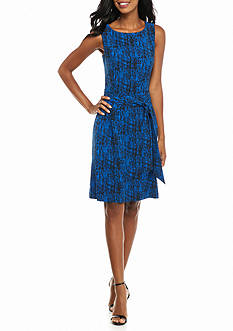 Anne Klein Print Fit And Flare Dress