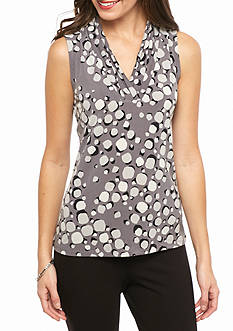 Anne Klein Print Triple Pleat Cami