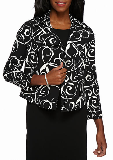 Anne Klein Suit All Over Print Jacket