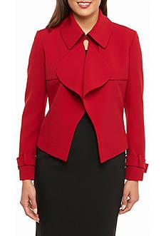 Anne Klein Ruffle Front Jacket