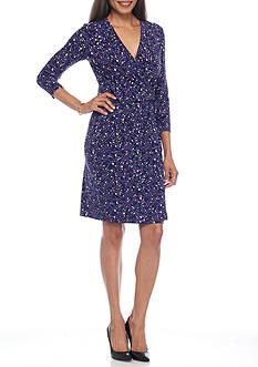 Anne Klein Jersey Knit Wrap Dress