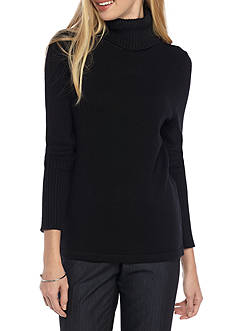 Anne Klein Solid Turtleneck Sweater