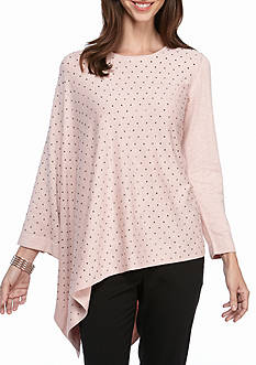 Anne Klein Beaded Cape Sweater