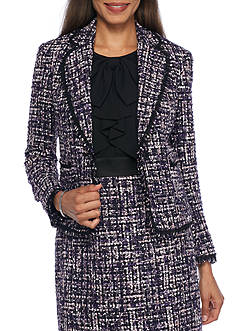Anne Klein Multi Tweed Jacket