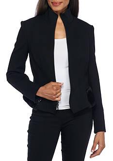 Anne Klein Zip Peplum Jacket