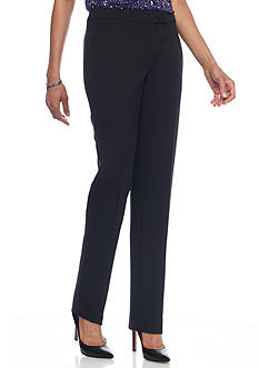 Anne Klein Solid Flat Front Pant