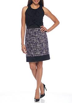 Anne Klein Sleeveless Tweed Dress