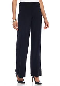 Anne Klein Wide Leg Jersey Pant