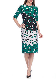 Anne Klein Dotted Print Dress