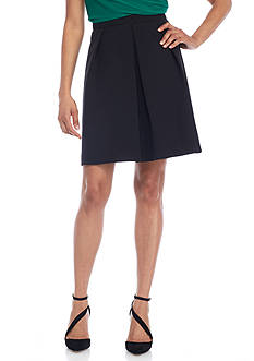 Anne Klein Solid Pleated Skirt