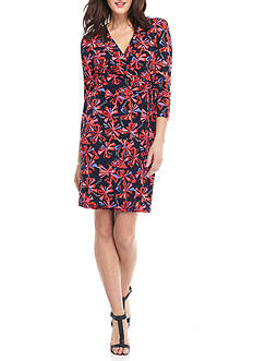 Anne Klein Printed Jersey Wrap Dress