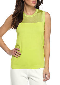 Anne Klein Sleeveless Illusion Sweater Tank