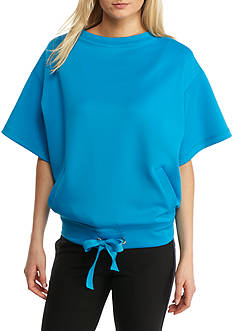 Anne Klein Short Sleeve Scuba Top