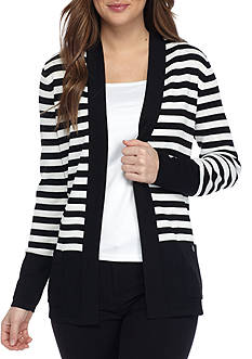 Anne Klein Striped Malibu Cardigan
