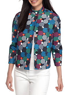 Anne Klein Circle Printed Flyaway Jacket