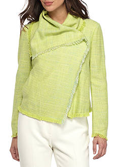 Anne Klein Asymmetrical Tweed Jacket