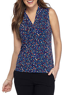 Anne Klein Printed Pleated Cami