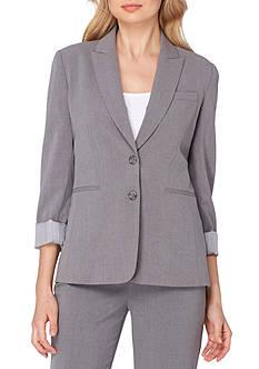 Tahari ASL Roll Cuff Jacket