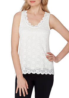 Tahari ASL Sleeveless Lace Cami