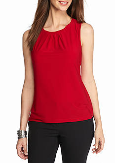 Tahari Twist Neck Jersey Knit Top