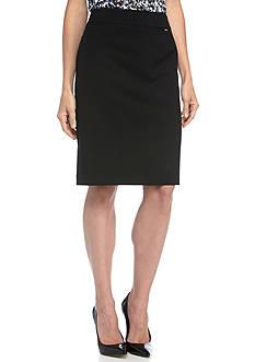 Tahari Flat Front Solid Skirt