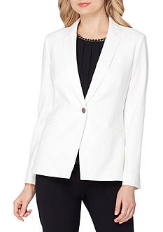Tahari ASL Notch Collar One Button Jacket