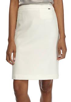 Tahari ASL Straight Crepe Skirt