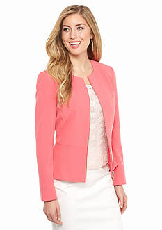 Tahari ASL Tailored Zip Front Jacket