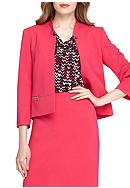 Tahari Solid Tailored Jacket