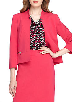 Tahari ASL Solid Tailored Jacket