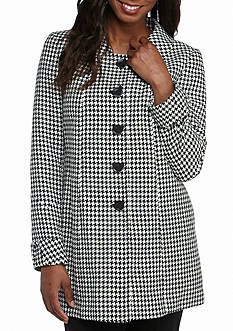 Tahari Patterned Five Button Jacket