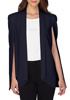Tahari Solid Cape Jacket