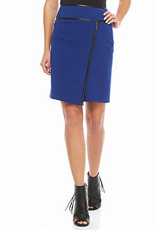 Tahari Piped Skirt