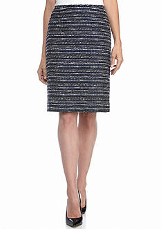 Tahari Patterned Pencil Skirt