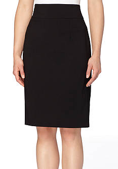 Tahari Zipper Detail Pencil Skirt