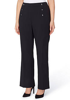 Tahari ASL Plus Size Bi-Stretch Sailor Pant