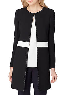 Tahari ASL Petite Topper With Contrast Waistband